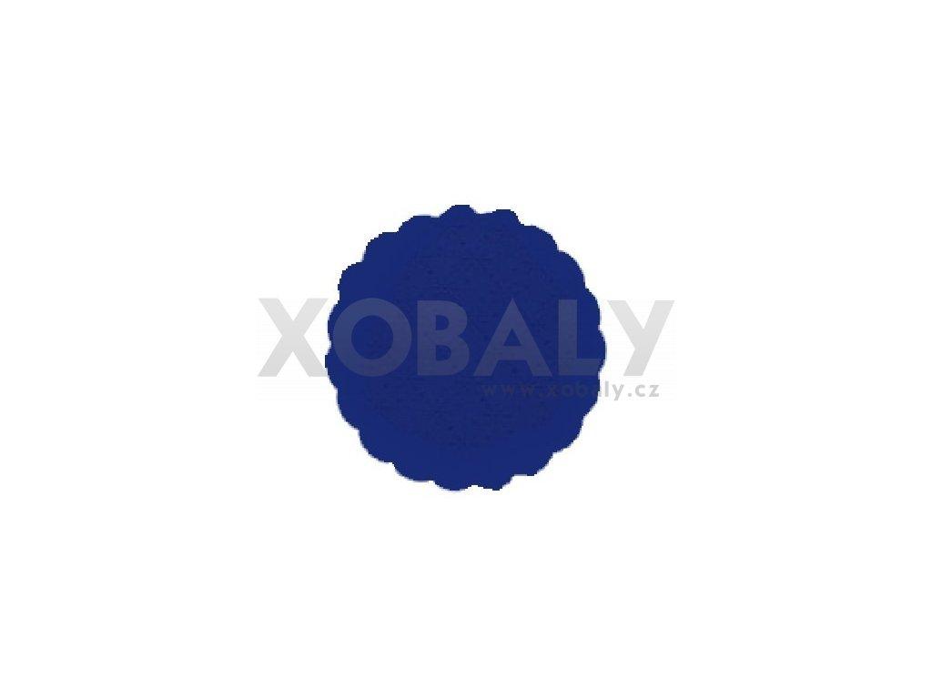 Rozetky papírové 9cm tmavě modré (cena za 500ks) - 36.0034