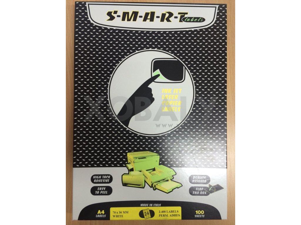 Etikety SMART 70x36mm do tiskáren (cena za 100 archů) - 101.0050