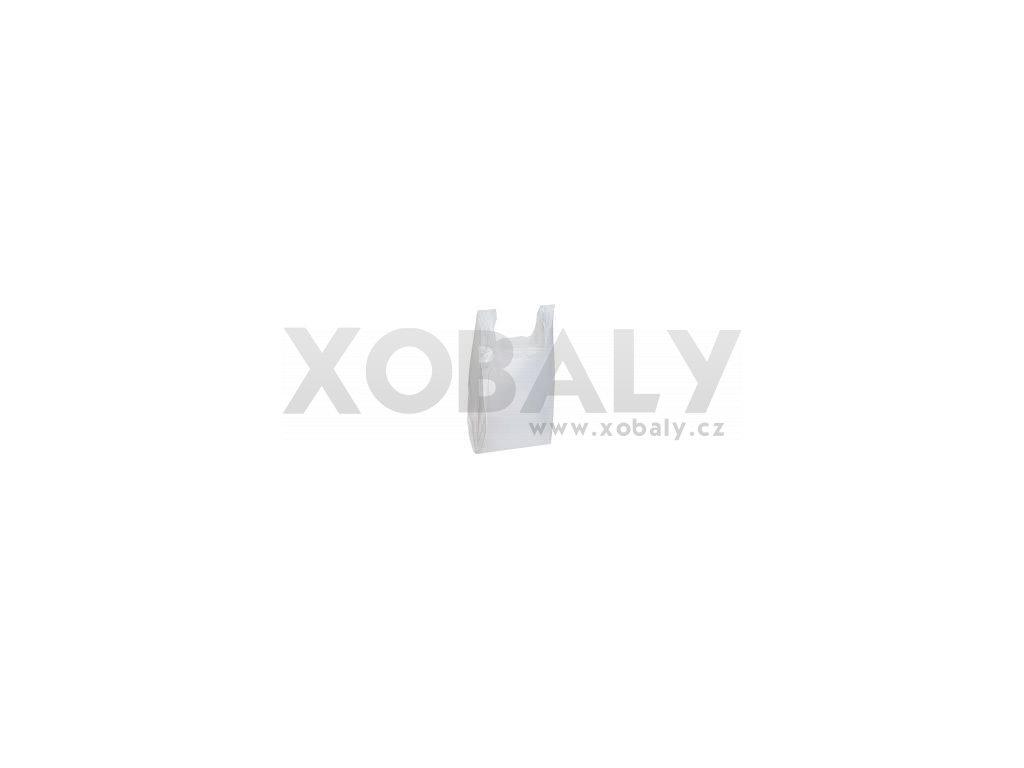 Taška mikrotenová košilka bílá (cena za 200ks) - 300+170x530mm
