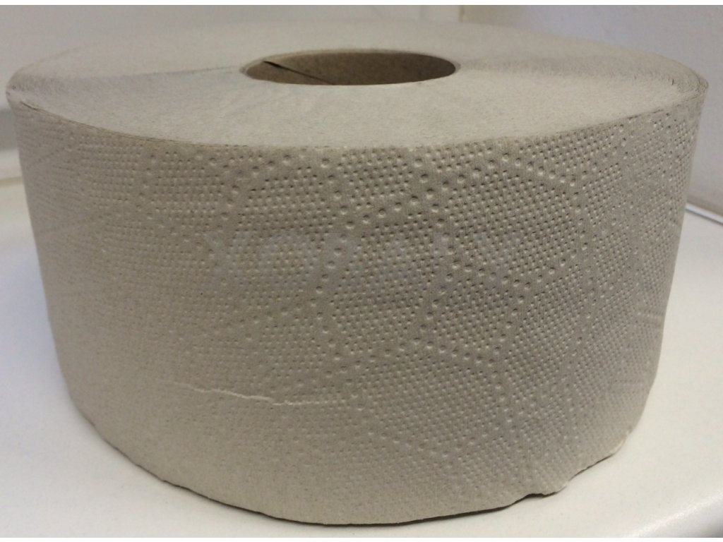 Toaletní papír JUMBO 190mm - šedé - jednovrstvý