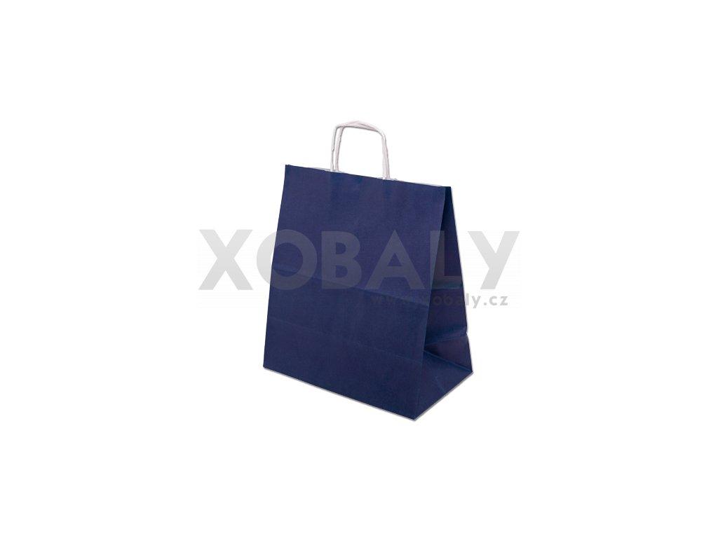 Papírová taška barevná 305x170x340mm - modrá