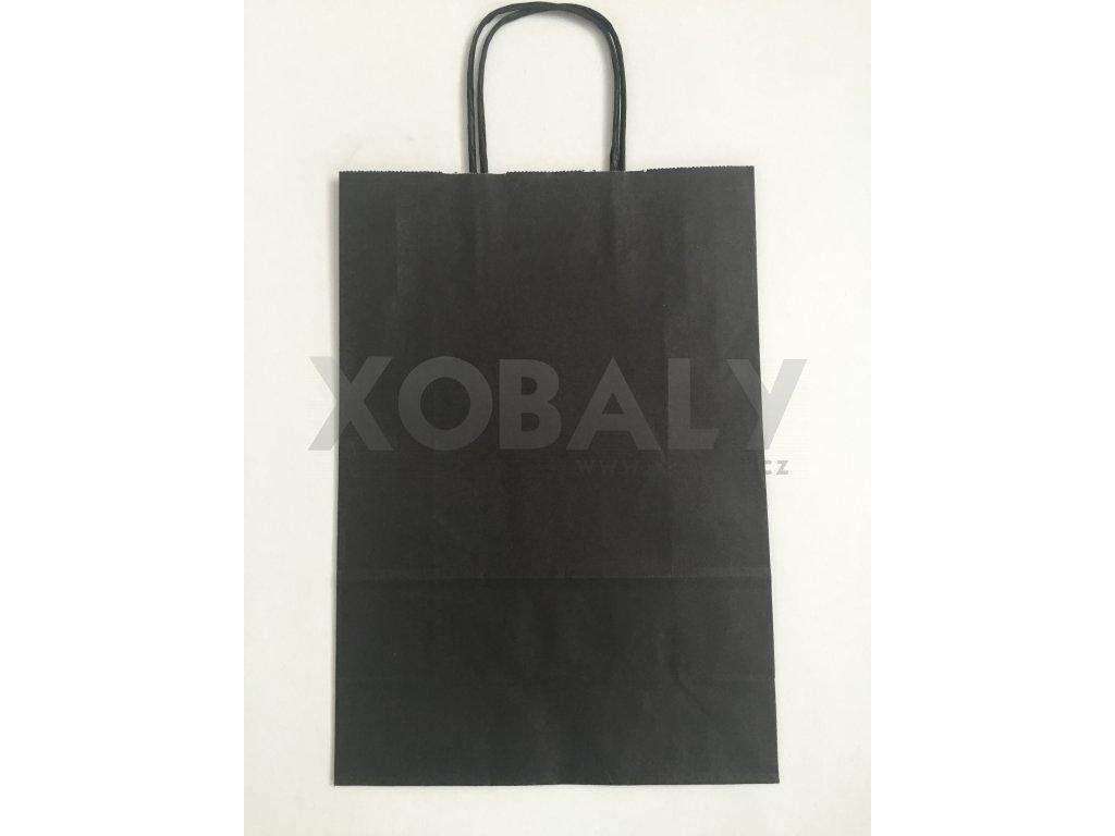 Papírová taška14x8x21cm - černá