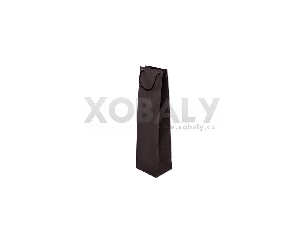 Taška papírová barevná 110x90x400mm - černá