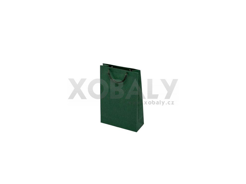 Taška barevná papírová 170x70x250mm - zelená