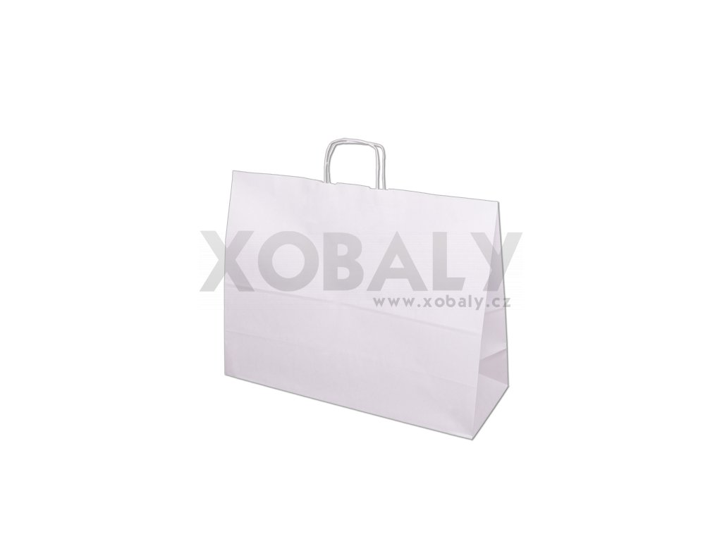 Papírová taška 500x180x390mm - bílá