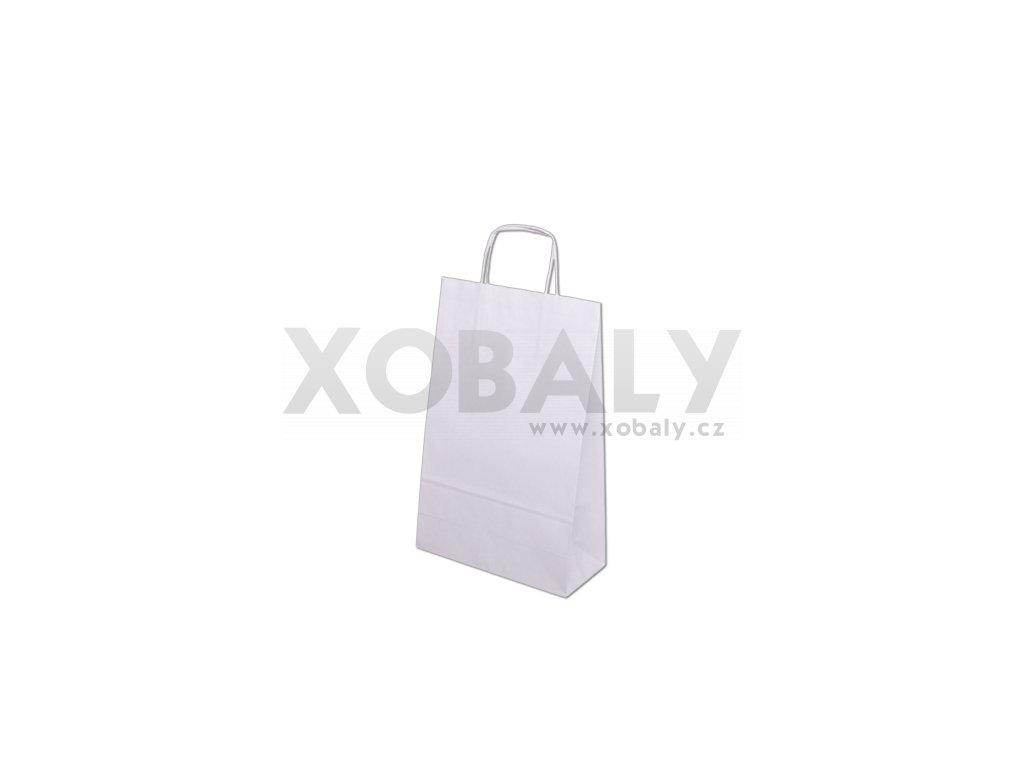Papírové tašky 240x100x360mm - bílá