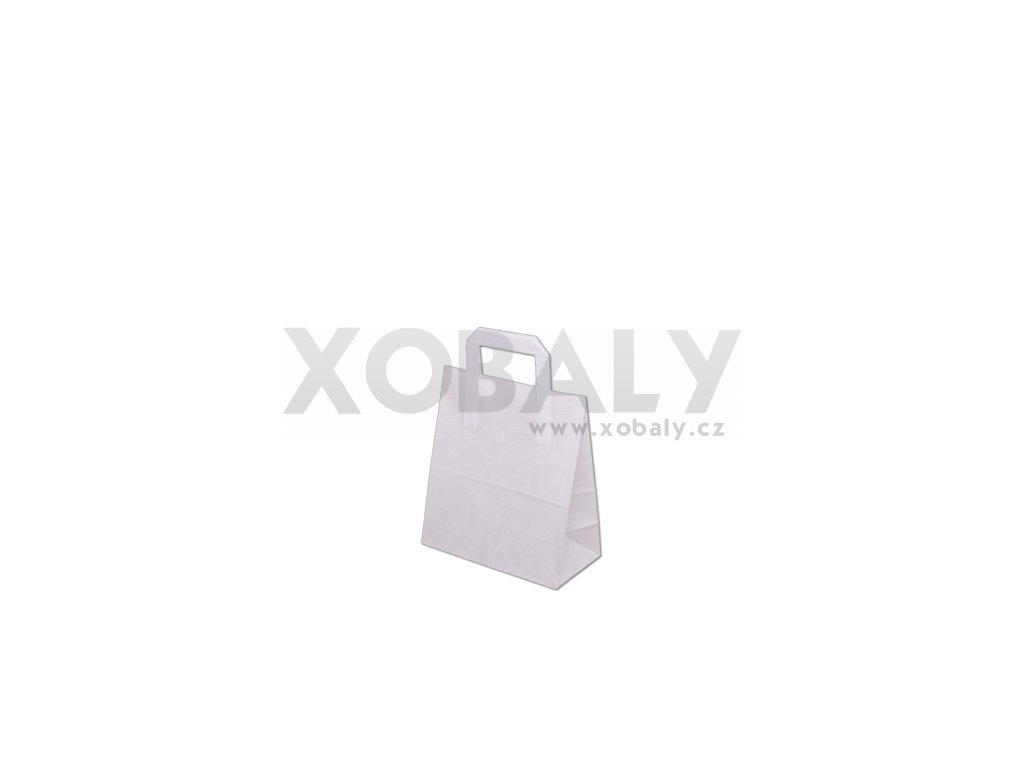 Taška papírová 220x110x245mm - bílá