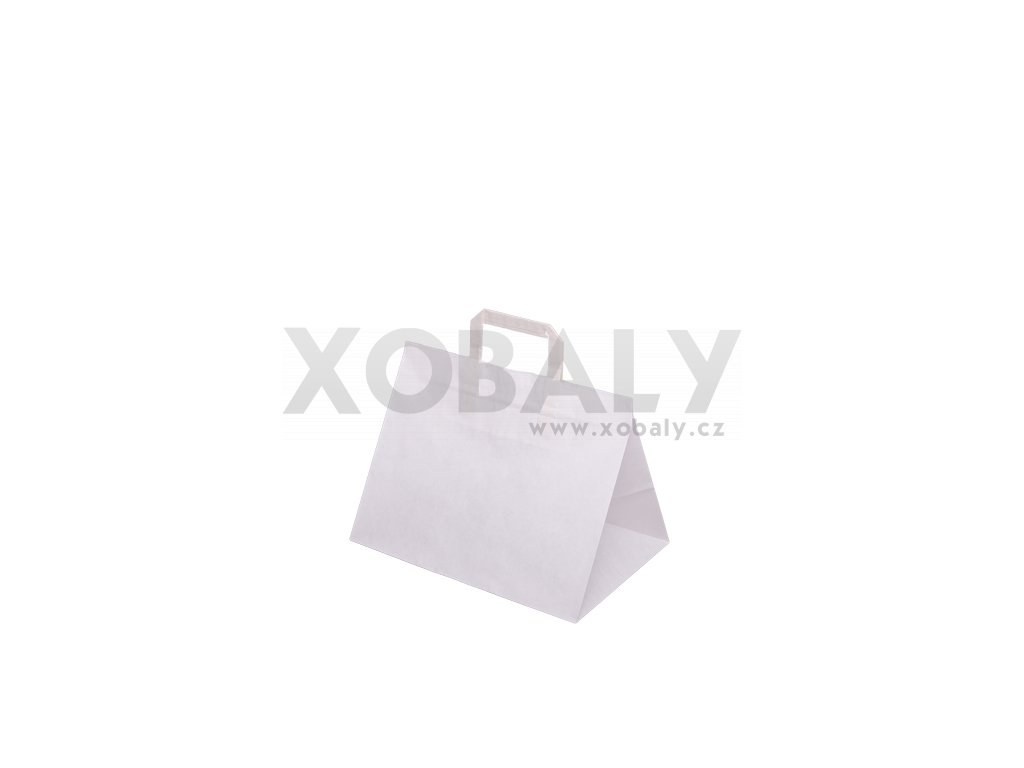 Papírová taška 330x220x245mm - Bílá