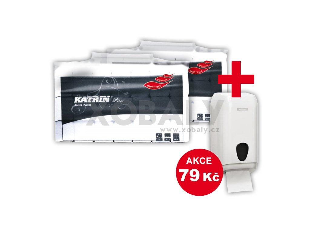 Skládaný toaletní papír Katrin Plus Bulk pack  plus  zásobník - 1100 - 16800 útržků