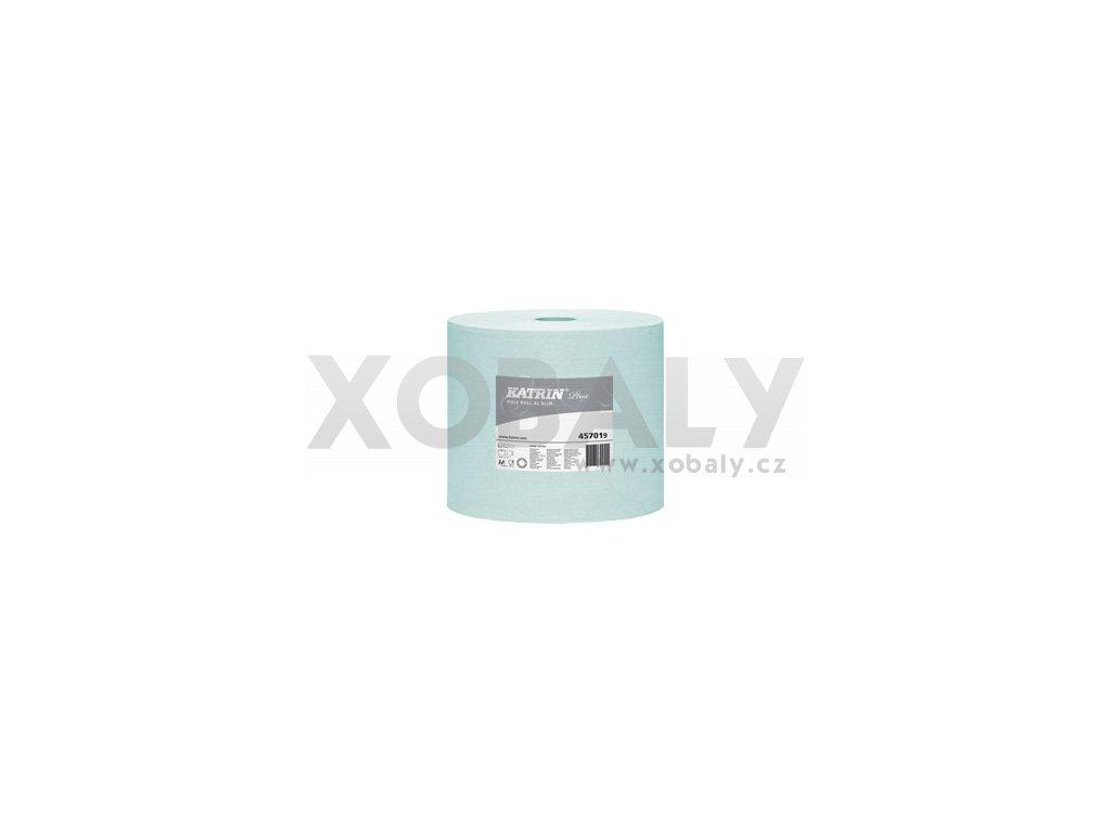 Utěrky z netkané textilie v roli KATRIN PLUS Poly XL modrá /550ks/