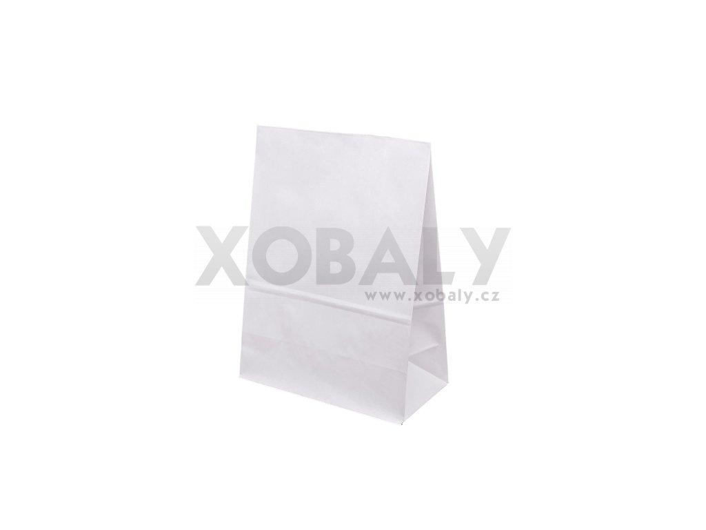 Papírová taška bez uch 120x95x325mm - Bílá