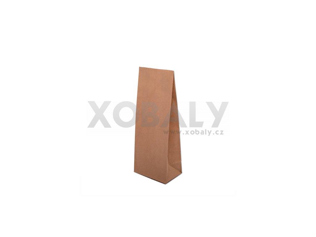 Přírodní papírová taška bez uch 100x70x260mm