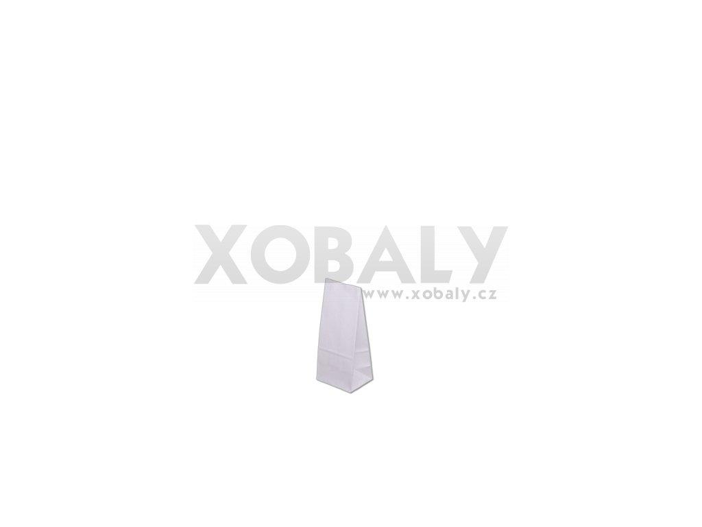 Papírová taška bez uch 80x65x190mm - Bílá