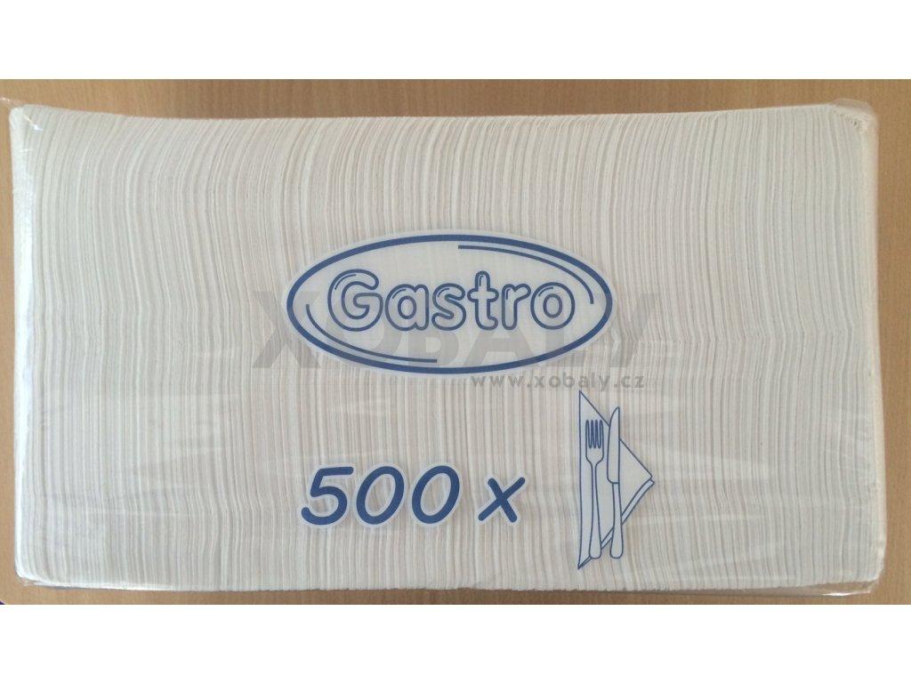 Papírové ubrousky 33x33cm 1-vrstvé GASTRO - Gastro balení 500ks