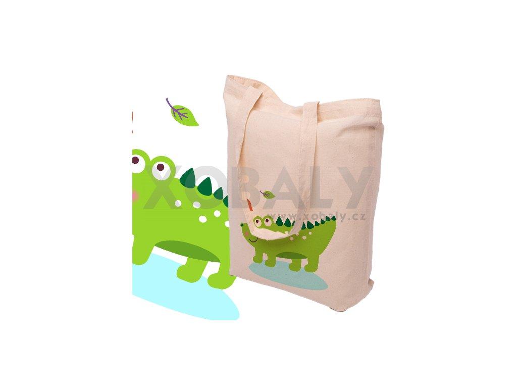 Nákupní bavlněná taška KROKODÝL - 15.0013