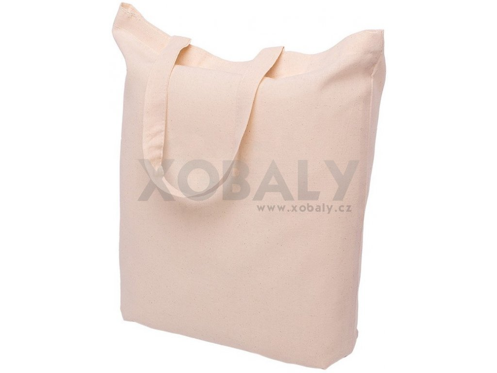 cotton carrier bag ecru 390x410mm handles 35