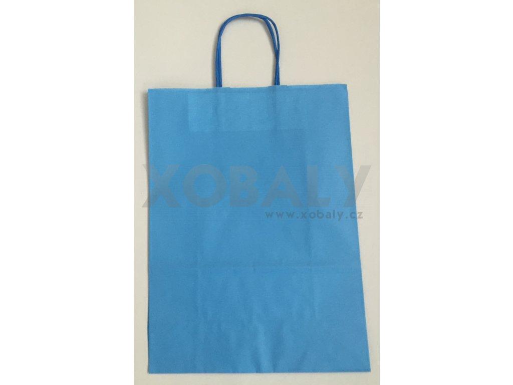 Papírová taška 18x8x22cm - Modrá