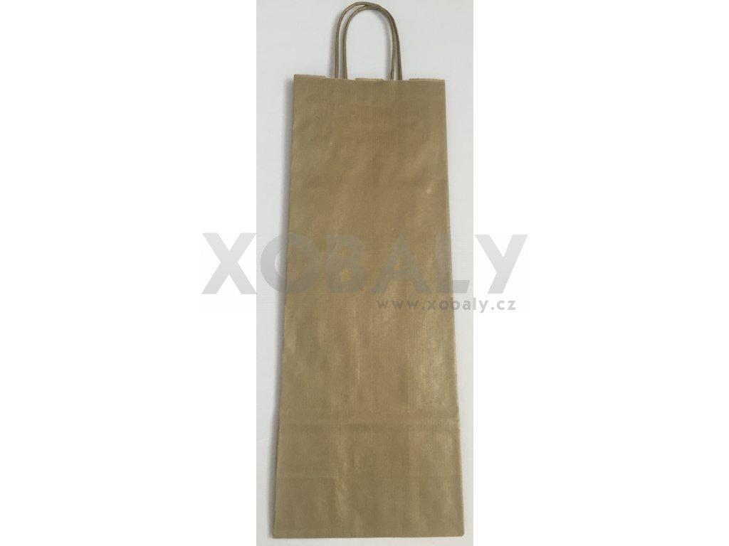 Papírová taška na víno 14x8x39cm - zlatá