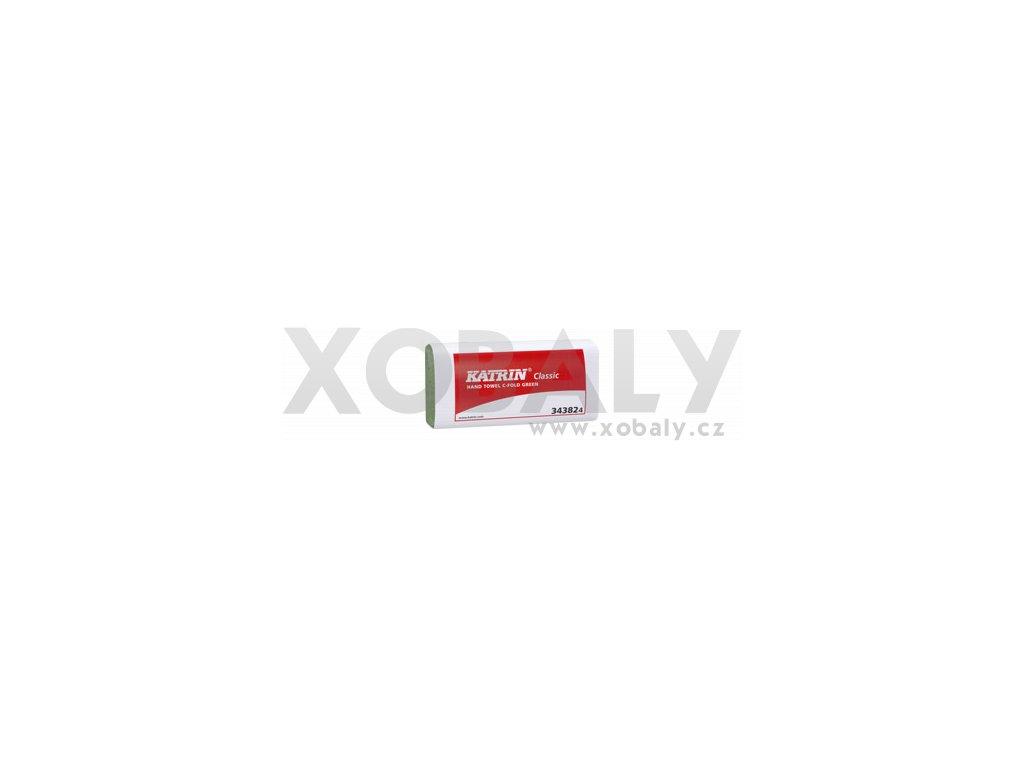 Skládané papírové ručníky KATRIN CLASSIC C-Fold Zelená - 343824