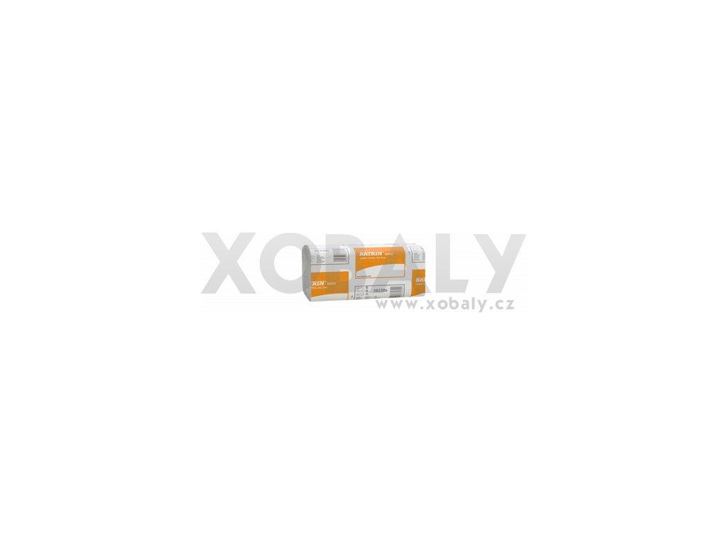 Papírové ručníky skládané KATRIN BASIC Zig Zag - 100669, 362309 - Barva šedá