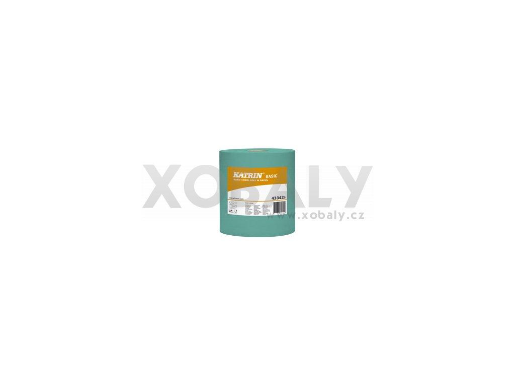 Papírové ručníky v roli KATRIN BASIC M Zelená - 433429