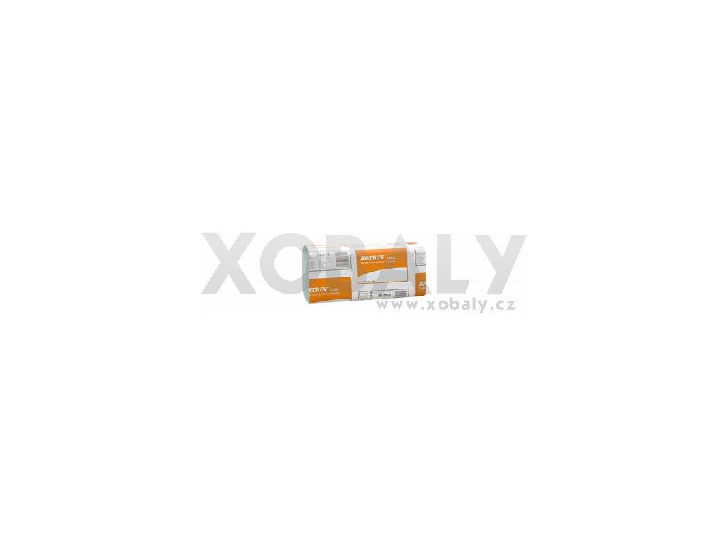 Papírové ručníky Z-Z KATRIN BASIC Zig Zag - 100683, 362101 - Zelená