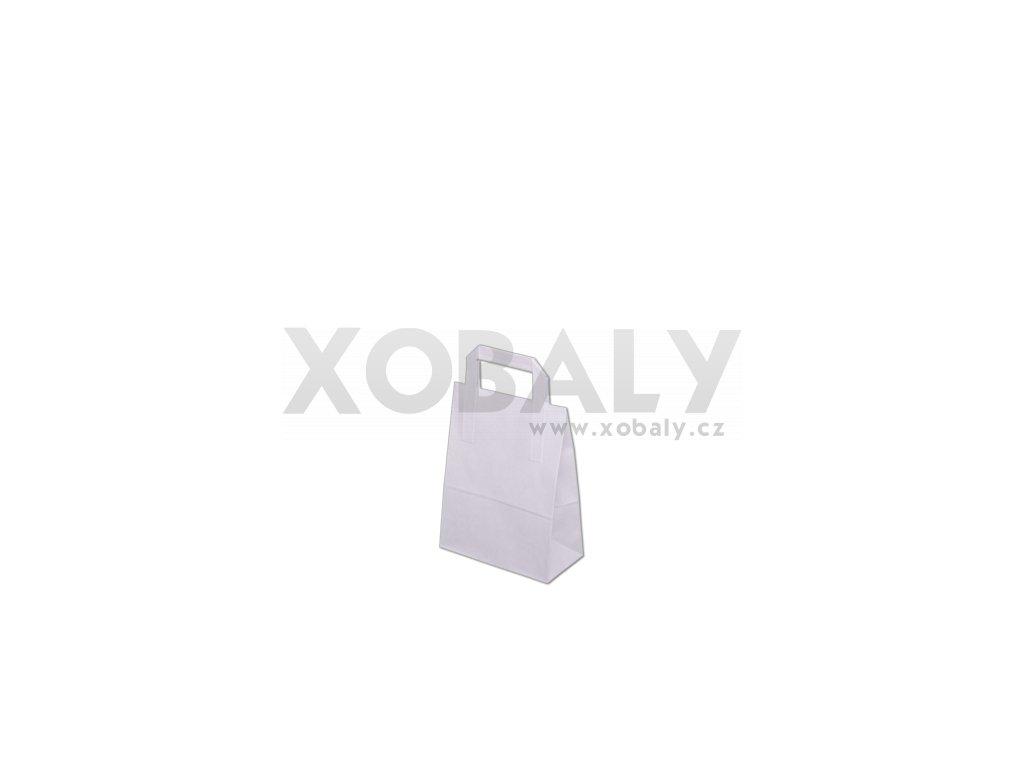 Papírová taška 260x120x350mm - Bílá