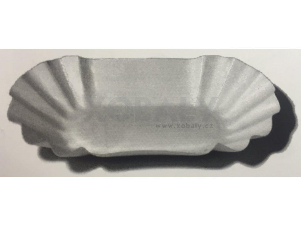 Papírová miska 8x14,5x2,5cm bílá (cena za 250ks)