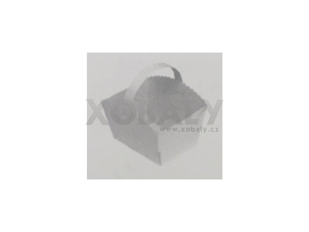 Svatební košíčky s ouškem 10x8x6cm (cena za 50ks)