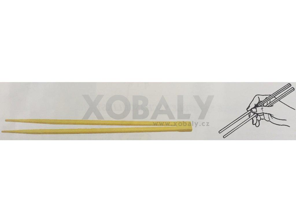Čínské hůlky 21cm, 6mm hygienicky balené po páru (cena za 50ks)