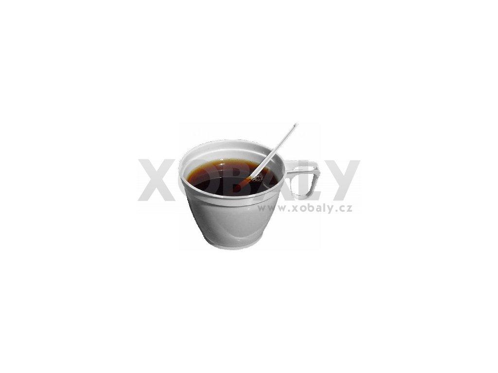 Plastový hrnek na kávu s ouškem 0,18l bílý (cena za 60ks)