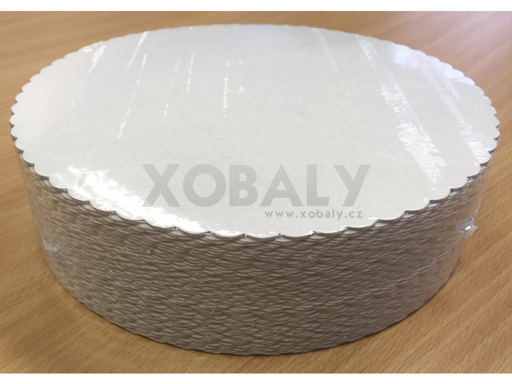 Podložka z lepenky pod dort slunečnice 22cm (cena za 100ks)