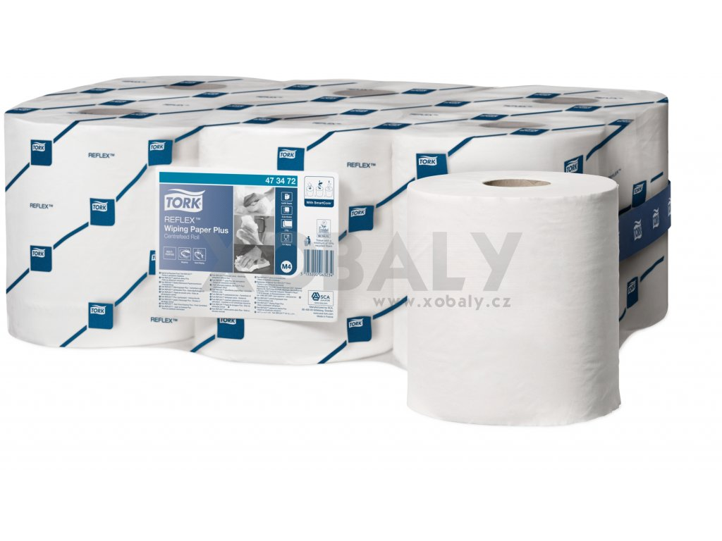 Tork Reflex™ PLUS papírová utěrka bílá (cena za 6ks)