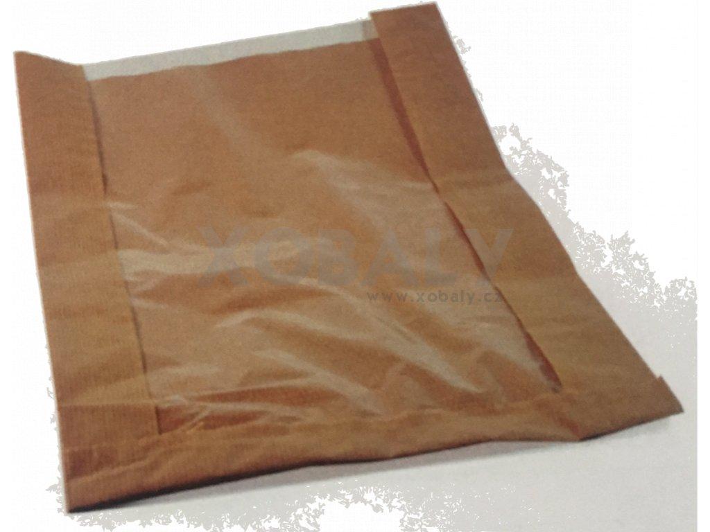 Papírový sáček s okénkem 260+60x400mm (cena za 1000ks)