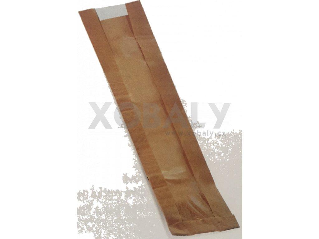 Papírový sáček na bagety s okénkem 120+40x590mm (cena za 1000ks)