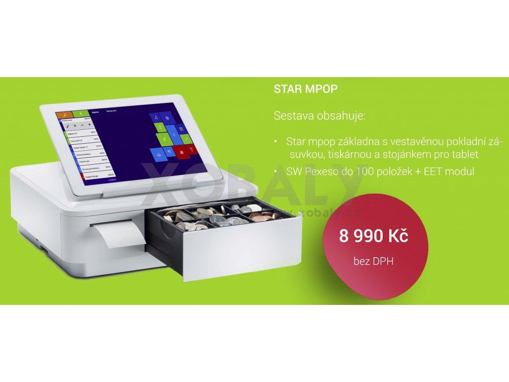 Stojánek pro tablet s vestavěnou tiskárnou a pokladní zásuvkou + EET modul