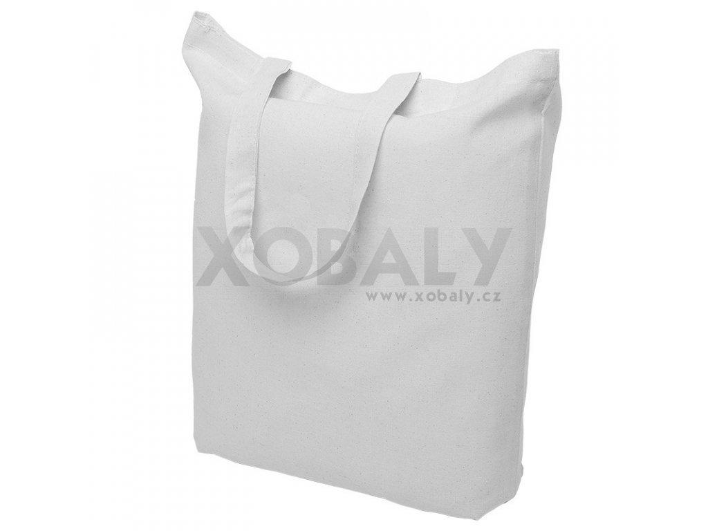 Bavlněná nákupní taška bílá - ucho krátké - 380x420mm