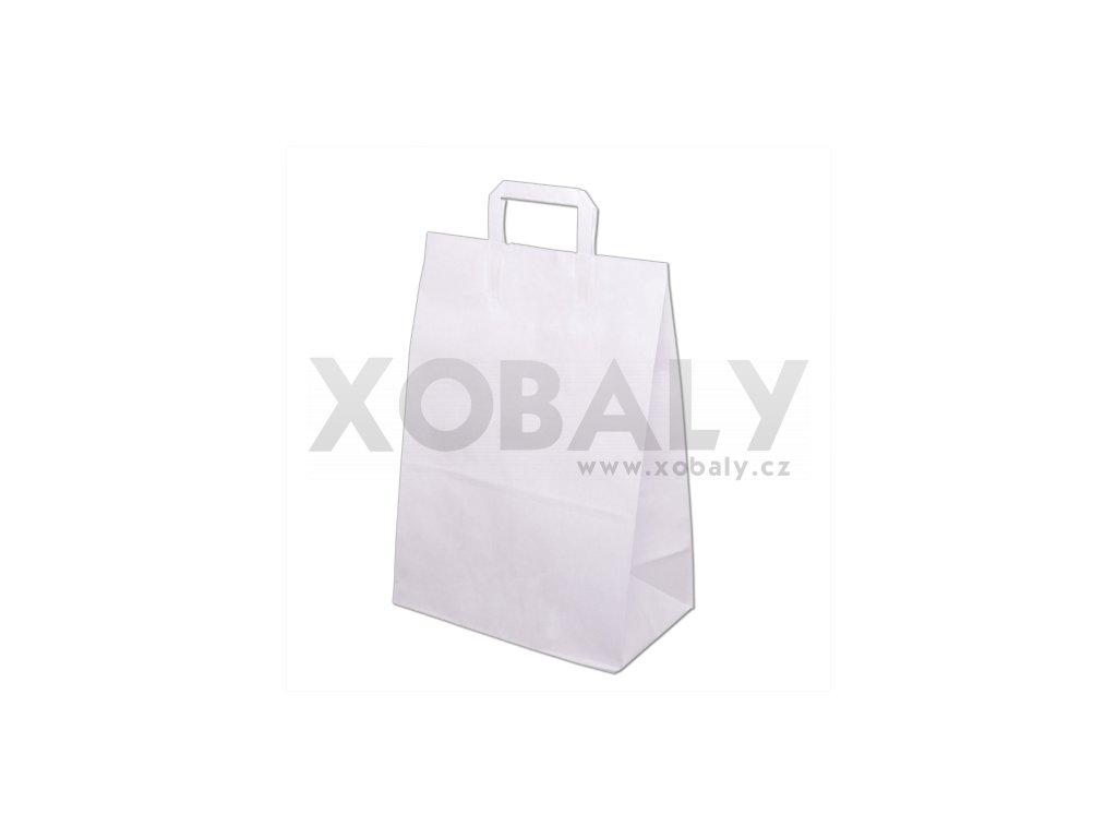 Taška papírová 320x160x430mm - Bílá