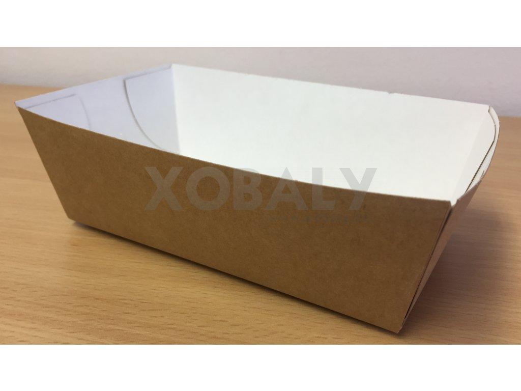 Papírová miska na hranolky střední 15,2x8,2x4,3cm (cena za 90ks)
