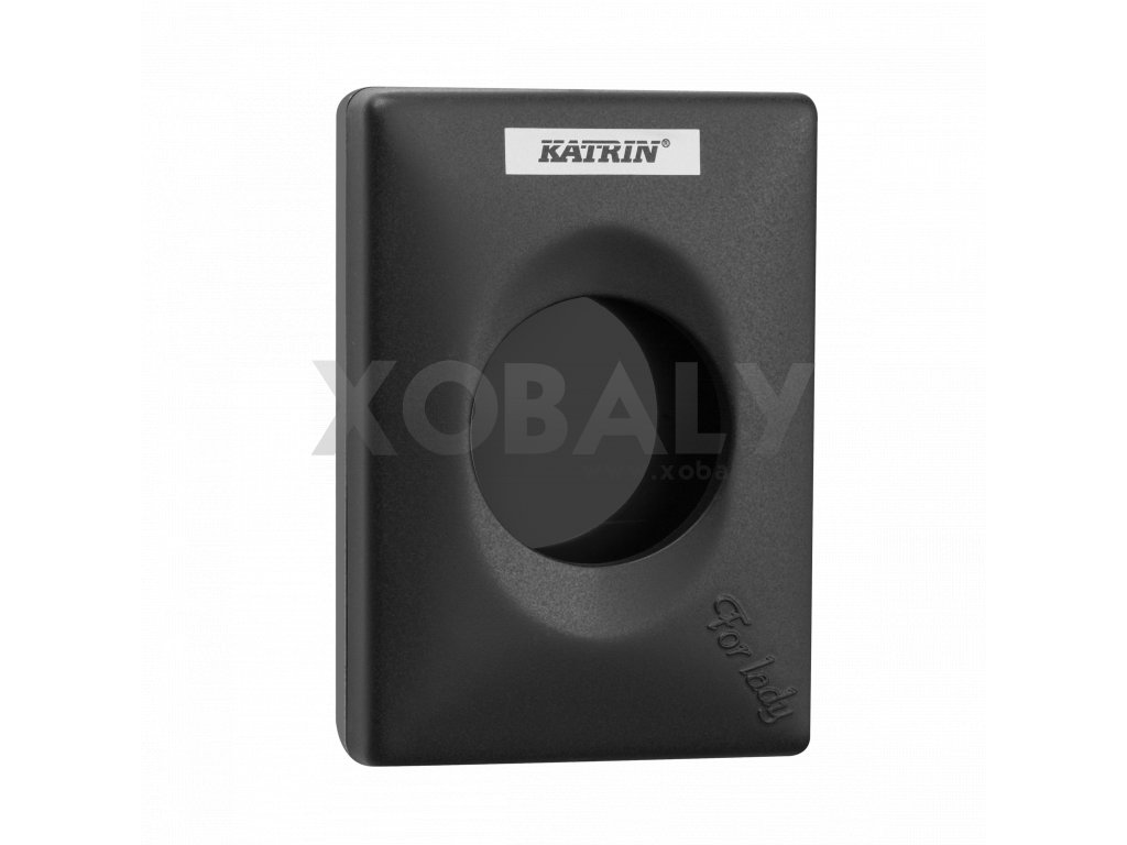 92247 katrin hygiene bag dispenser black side