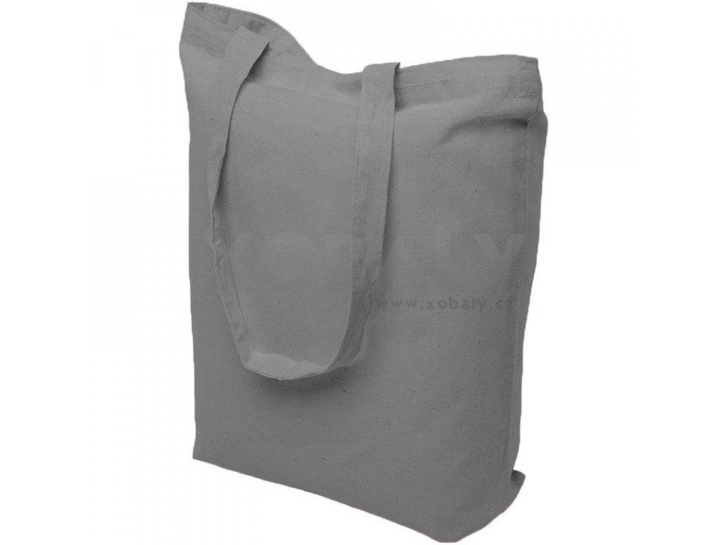 Taška bavlnena seda 39x41 cm ucho 70cm