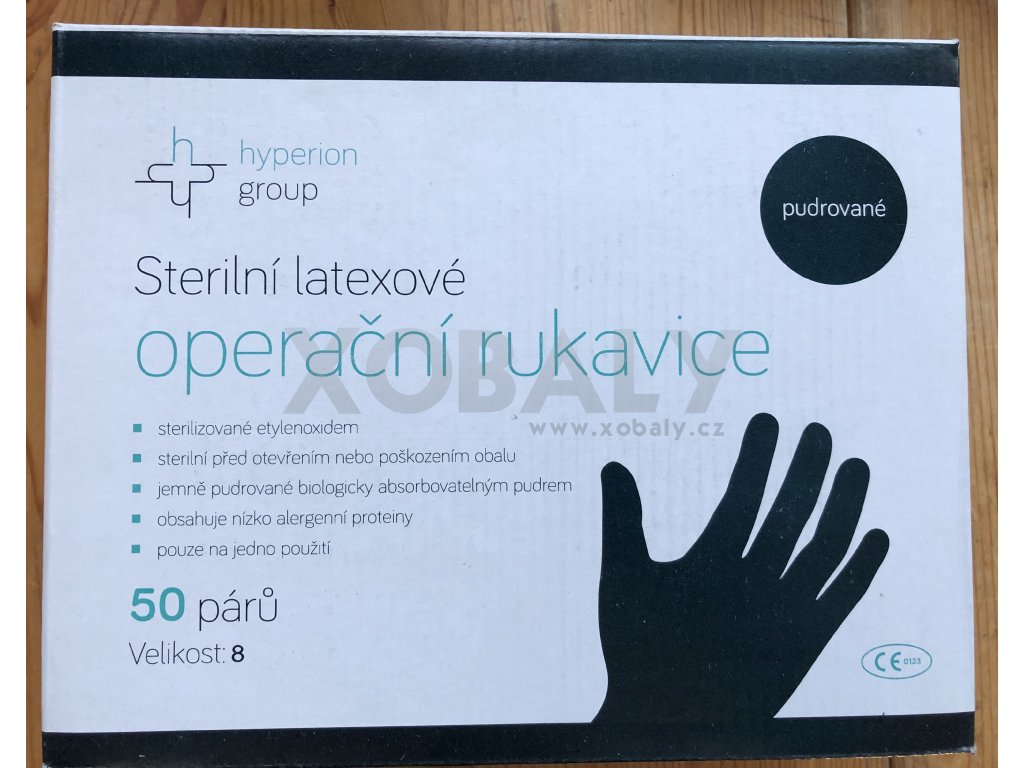 Latexové rukavice jednorázové (cena za 100ks)