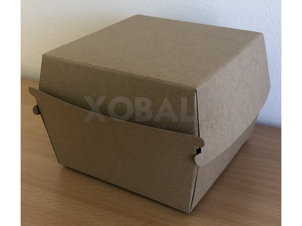 Bio papírový box na Hamburger 13x13x9,5cm (cena za 50ks)