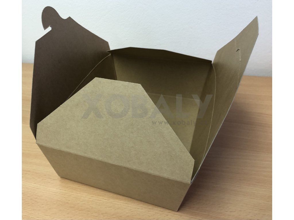 Papírová krabička na jídlo střední (cena za 50ks)