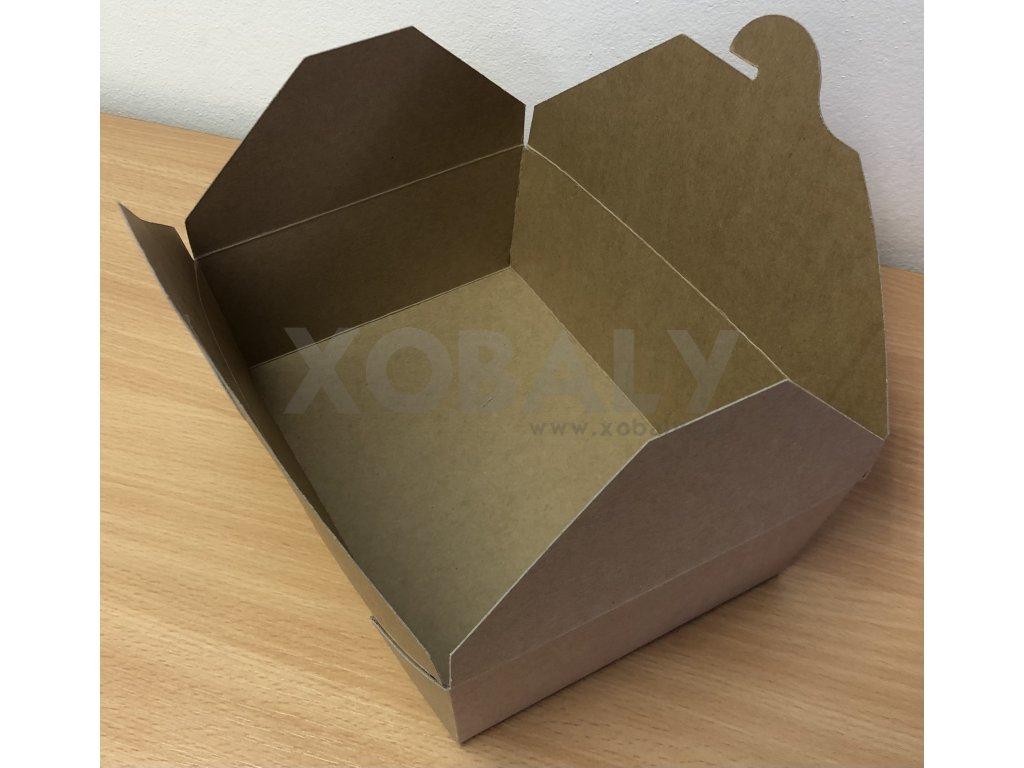 Papírový box na jídlo malý (cena za 50ks)