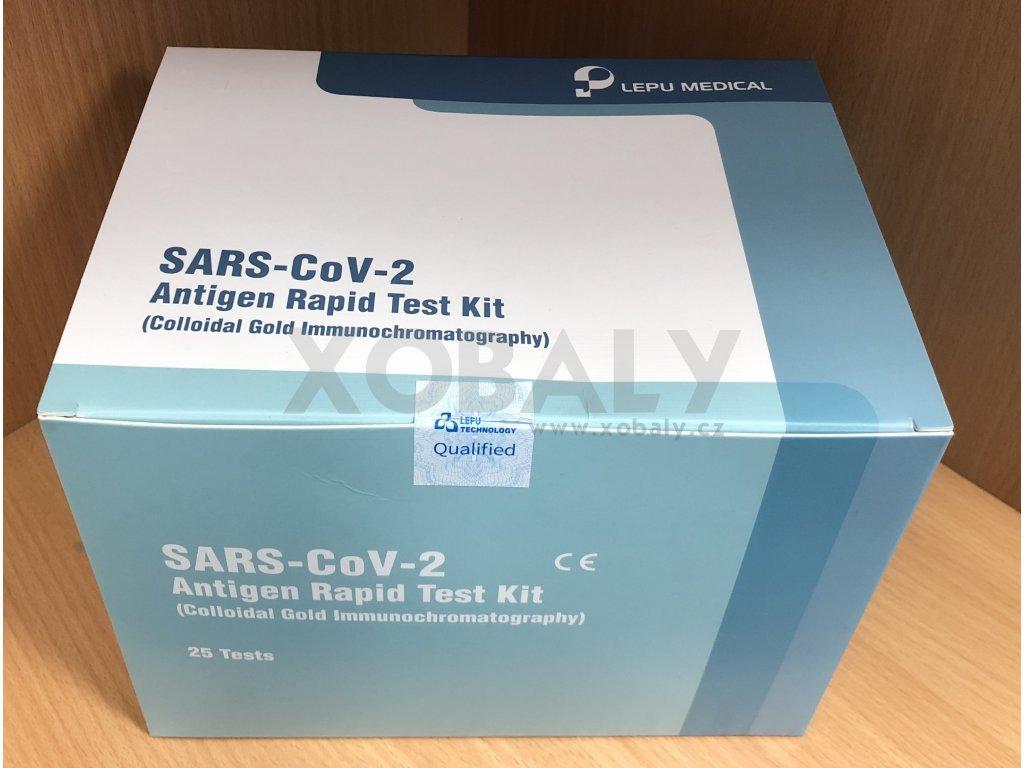 Antigenní testy na COVID LEPU MEDICAL z kraje nosu (cena za 25 testů)