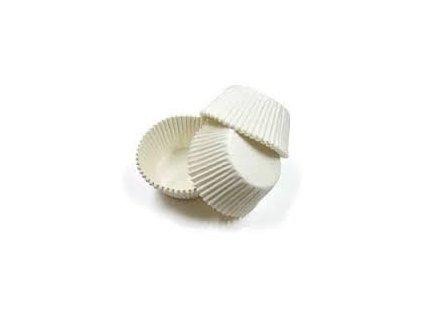 Cukrářské košíčky bílé pr.45x25mm  (cena za 1000ks)