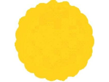 Rozetky papírové 9cm žlutá (cena za 500ks) - 36.0036
