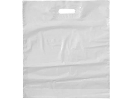 Taška igelitová se zpevněným průhmatem bílá -380x450+50mm
