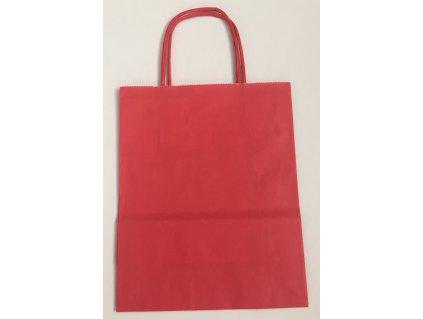 Taška papírová 14x8x21cm - červená